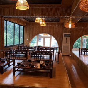 Trang trí quán ăn nhà hàng bằng tre