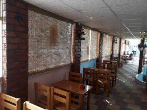 Mành tre trúc trang trí quán ăn