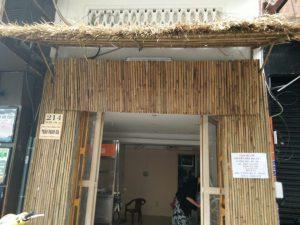Hình ảnh thi công nhà tre mái lá cho cửa hàng