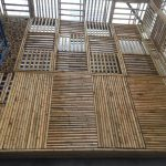 Ốp trần nhà bằng tre nứa