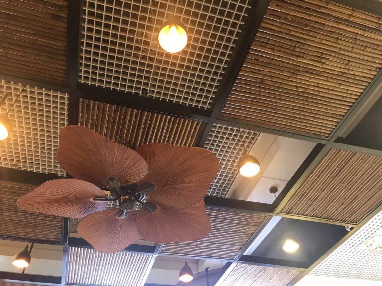 Trang trí trần bằng tre trúc