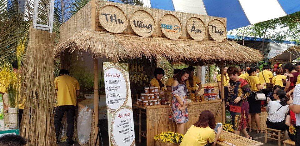 Mẹt tre trang trí phục vụ cho hội chợ