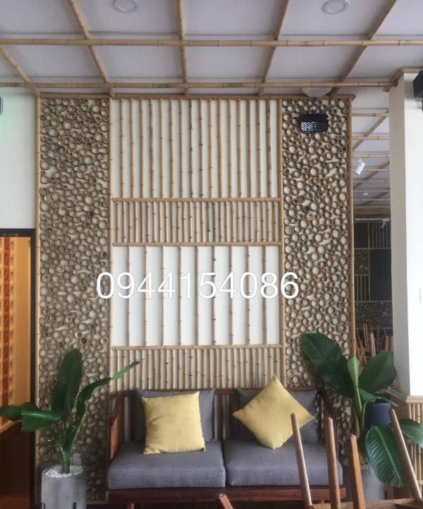 Thi công tre trúc trang trí phòng khách