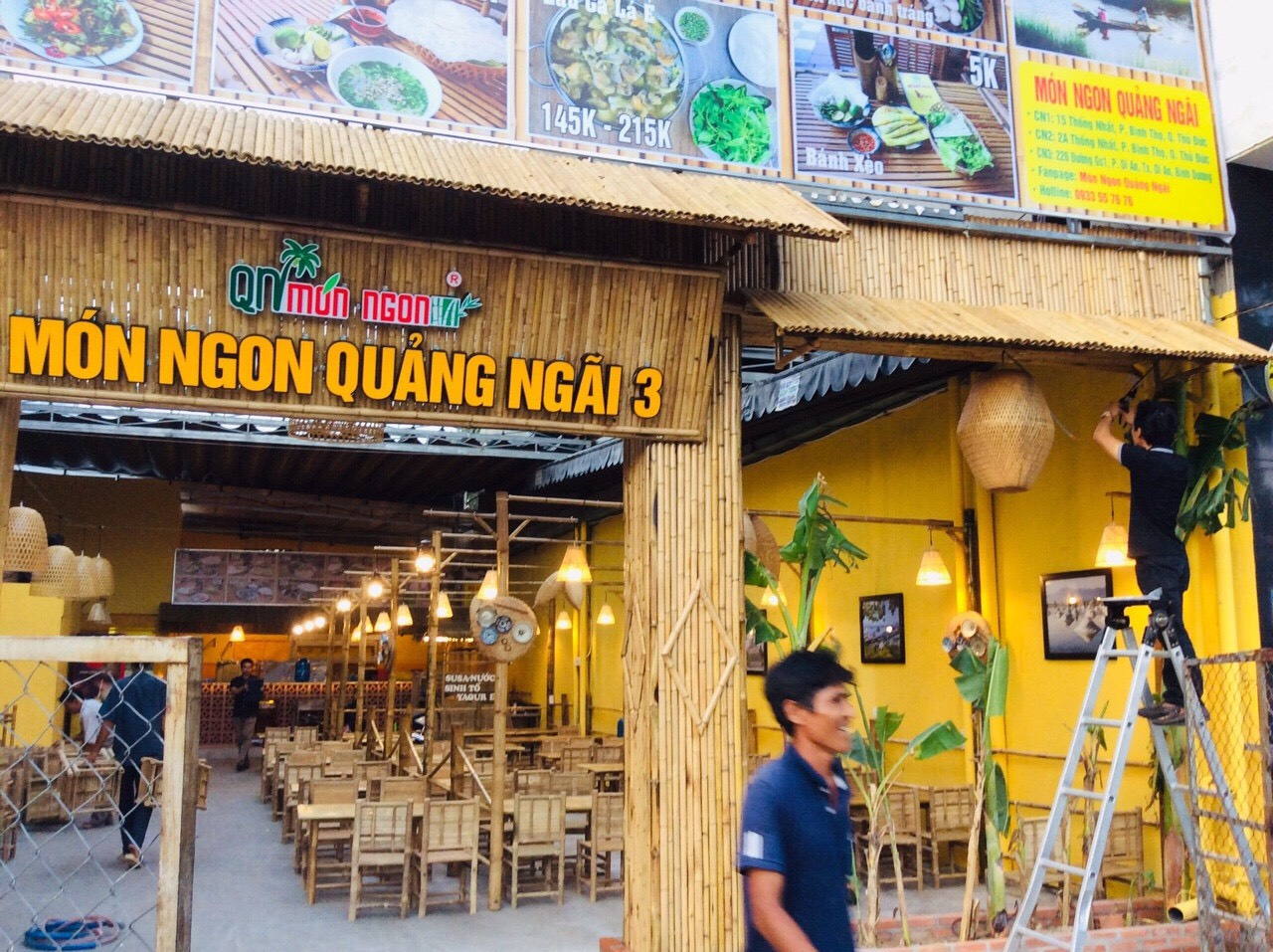 City Nội Thất đã thực hiện thi công trang trí tre trúc cho rất nhiều quán ăn tại TP.HCM