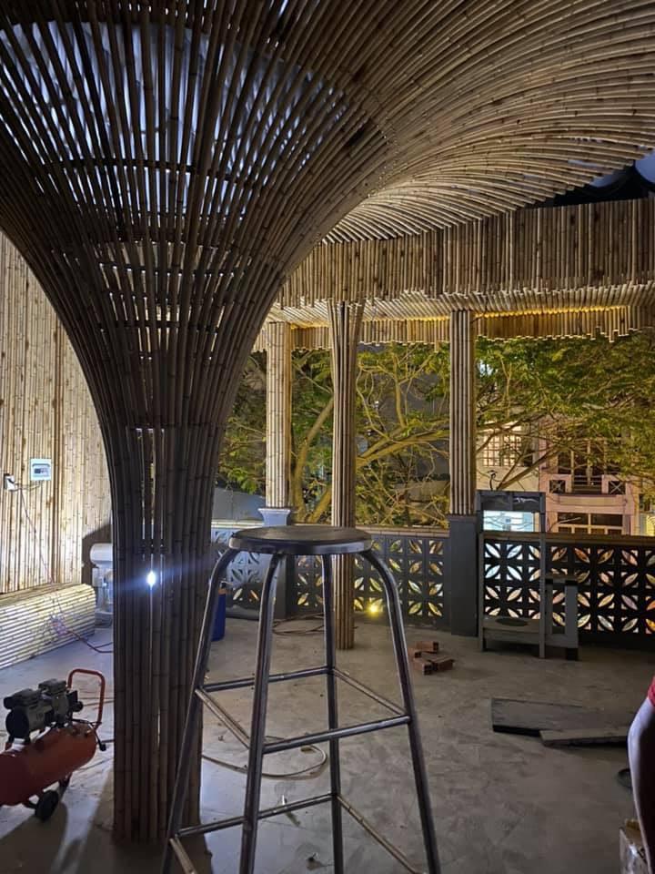 Thi công công trình tre trúc trang trí cho nhà hàng